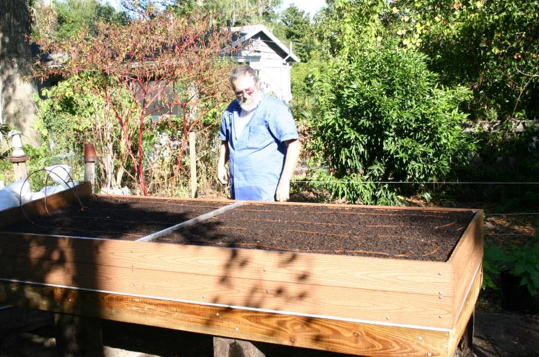 Ronald Willamson with raised bed
