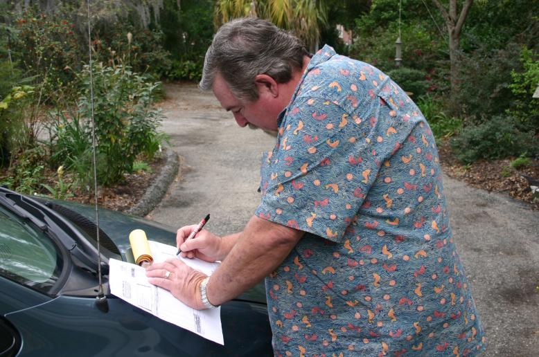 Richard Slaybaugh writing Azomite sale in Jacksonville